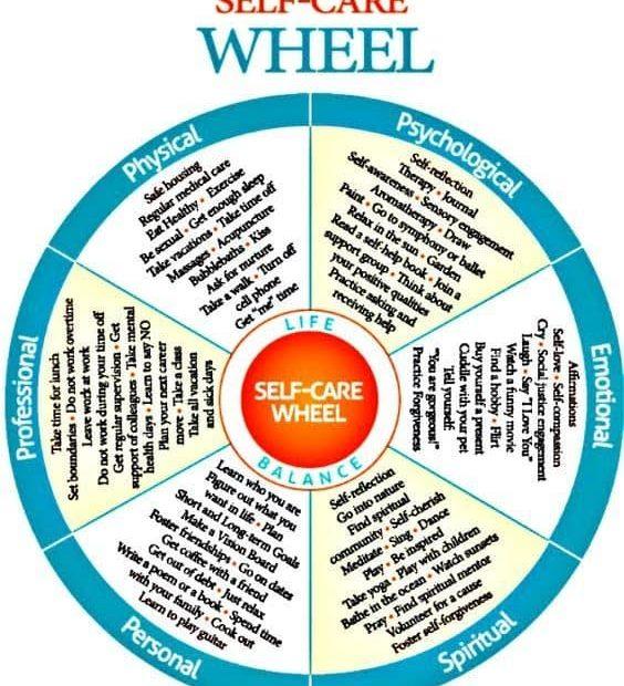 a self care wheel